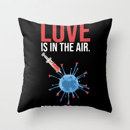 Love And Flu In The Air Funny Throw Pillow