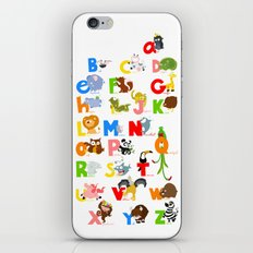 ABC (english) iPhone & iPod Skin