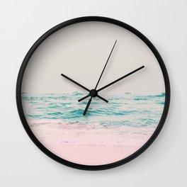 Vintage Pastel Ocean Waves Wall Clock