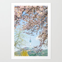 Seoul Tower - Spring Art Print