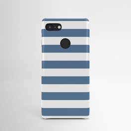 Blue and White Stripes Android Case
