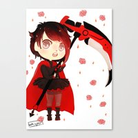 rwby Canvas Prints featuring RWBY Chibi by Whisperwing