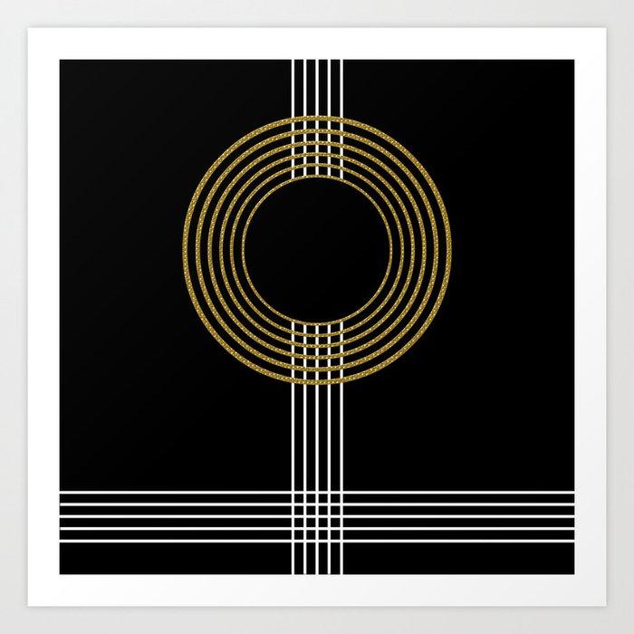 GUITAR IN ABSTRACT (geometric art deco) Kunstdrucke