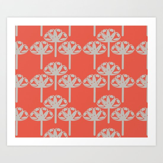 Abstract Gerbra Art Print