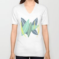 coconut wishes V-neck T-shirts featuring Coconut Blossom by Melanie Hodge