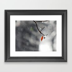 Chilly morning Framed Art Print