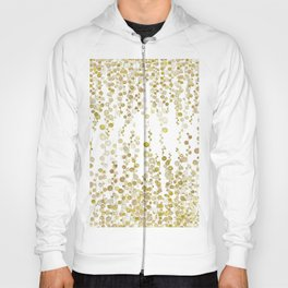golden string of pearls watercolor Hoody