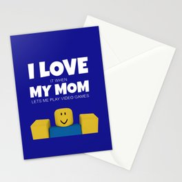 Roblox NOOB I Love My Mom Stationery Cards