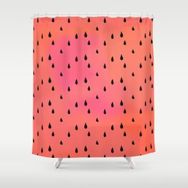 Watermelon rain Shower Curtain