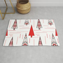 Seamless christmas applique patchwork pattern Rug