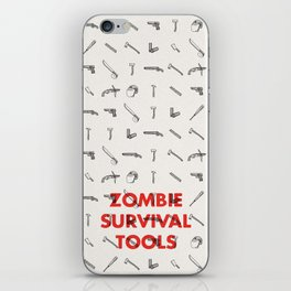 Zombie Survival Tools - Pattern 'o tools iPhone Skin