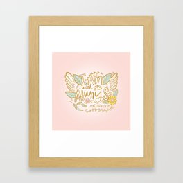I Am With You Always Framed Art Print