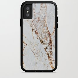Gold Grey and White Sparkle Marble iPhone Case