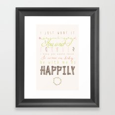 One Direction: Happily Framed Art Print