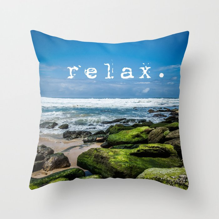 Throw Pillows That Say Relax : Relax Throw Pillow by michellemcconnell Society6