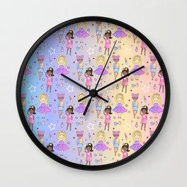Fashion Girls Stars Dolls Wall Clock