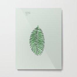 Palm, Tropical Wall, Leaf, Art Print, Botanical Decor Metal Print
