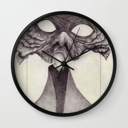 Meeting With Beksinski Wall Clock