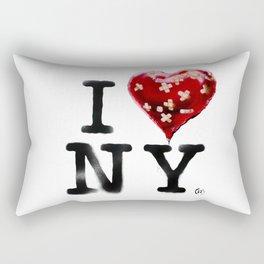 Banksy * I Love New York Rectangular Pillow