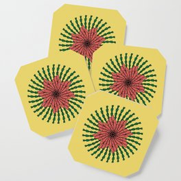 coral flower Coaster
