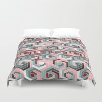 60s Duvet Covers featuring Back in the 60s peach by MehrFarbeimLeben
