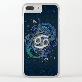 Cancer Zodiac Sign Water element Clear iPhone Case