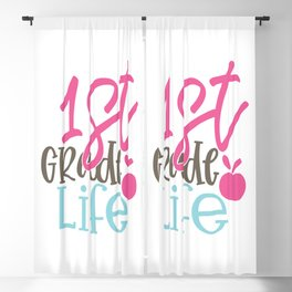 1St Grade Design; - Funny School humor - Cute typography - Lovely kid quotes illustration Blackout Curtain