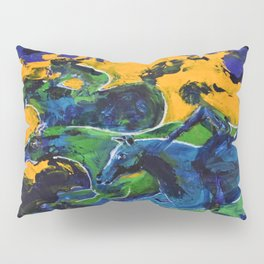 Horse Riders in the Autumn Sea Pillow Sham