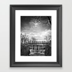Over the River & Under the Bridge Framed Art Print