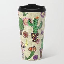 mosaic cactus plant pots Travel Mug