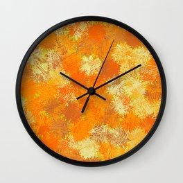 Pumpkin Tumbleweeds Wall Clock
