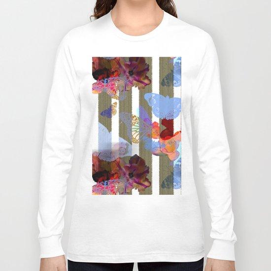 Fly Flower Long Sleeve T-shirt