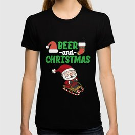 Funny Beer And Christmas T-shirt
