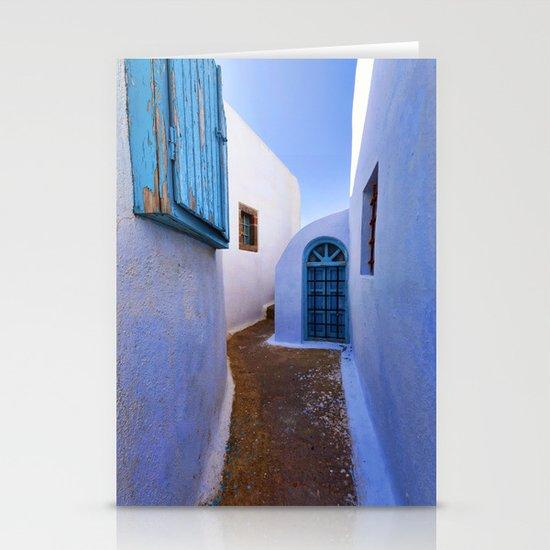 Mediterranean blue Stationery Cards