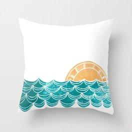 Ocean Sunrise Throw Pillow