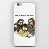 beastie boys iPhone & iPod Skins featuring Where The Beastie Things Are by Derek Salemme