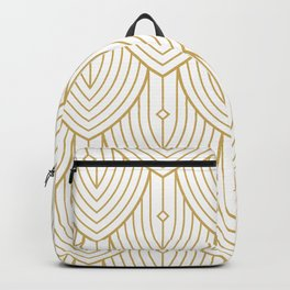 Gold and white art-deco pattern Backpack