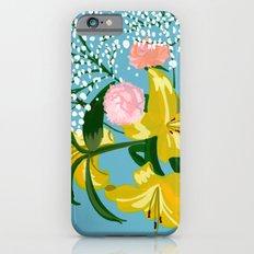 Flowers on Blue Slim Case iPhone 6s