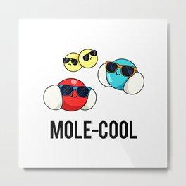 Mole-cool Cute Physics Molecule Pun Metal Print