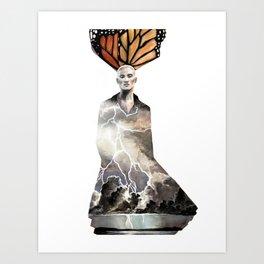 Lightning Wings Art Print
