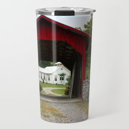 Covered bridge and oneroom school Travel Mug