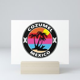 Surf Cozumel Mexico Mini Art Print