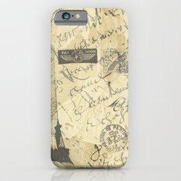 Parisian French Script iPhone Case