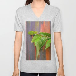 Hawaiian Rainbow Eucalyptus Colorful Tree and Vibrant Leaves Unisex V-Neck