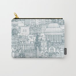 Edinburgh toile denim white Carry-All Pouch