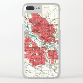 Vintage Map of Boise Idaho (1954) Clear iPhone Case