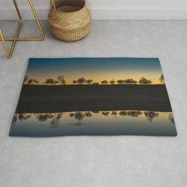 Sunset Sky. || Reflection. || Orange Sky. || Sunrise. || Europe. || Lake. || Landscape. || Travel Rug
