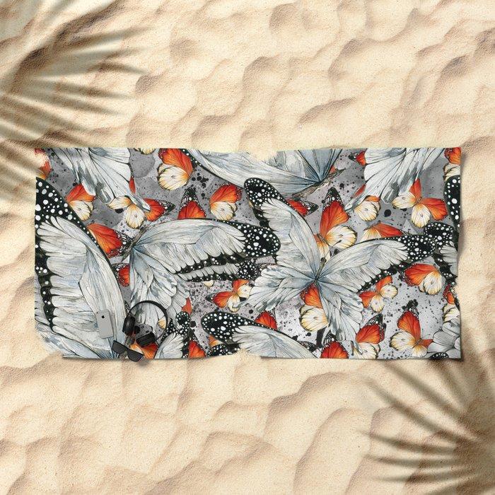 Butterflies #1 Beach Towel