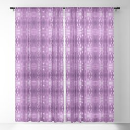 Purple structure pattern Sheer Curtain