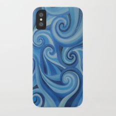 Parting Waves abstract ocean sea swirls painting iPhone X Slim Case